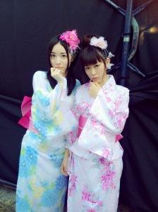 Jurina Matsui and Miyuki Watanabe are lovely in yukata!